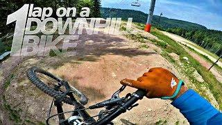 Back on a Downhill bike for 1 run - La Bresse Bikepark -subtitled-
