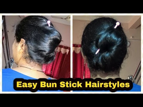Easy/Quick: Chinese BunStick Hairstyles In Hindi|Everyday Hairstyles|How to use bun stick|Hairstyles