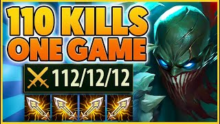 *112 KILLS* 5 PENTAKILLS IN ONE GAME!!! (PERSONAL RECORD) - BunnyFuFuu | League of Legends