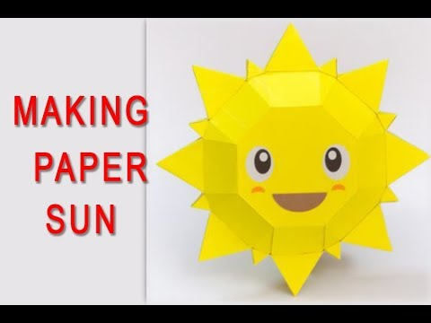 How To Make a Paper Sun | Step By Step  Kids Special