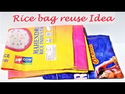 Easy reuse recycle idea of rice bag | DIY basket with waste material | Best out of waste