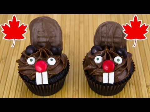 Beaver Cupcakes for Canada Day by Cookies Cupcakes and Cardio