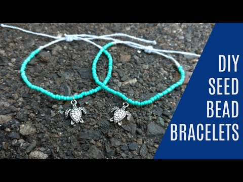 DIY Seed Bead Wax String Friendship Bracelets | Tutorial Inspired by Pura Vida Bracelets!