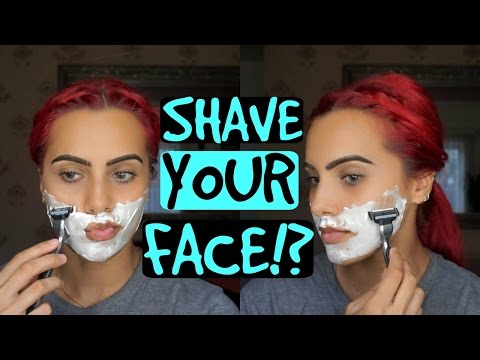 Shaving your face: How to get rid of peach fuzz