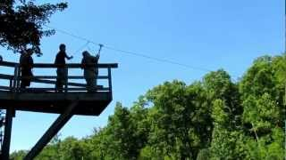 Zip Line Fail, 400 pounder can