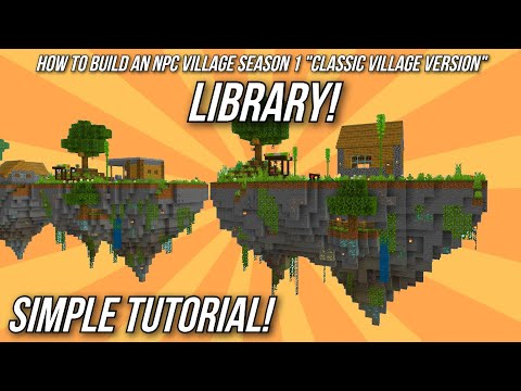 Minecraft Tutorial: How to build an NPC Village - Library!