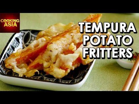 How To Make Tempura Potato Fritters | Cooking Asia