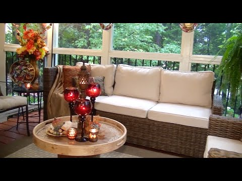 New Fall Look for My Screened Porch