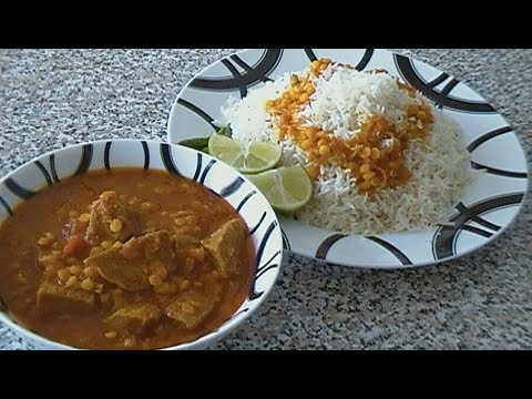 Korma Challow {Afghan meat Curry}