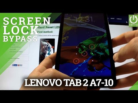 Hard Reset LENOVO Tab 2 A7-10 - Bypass Password by Factory Mode