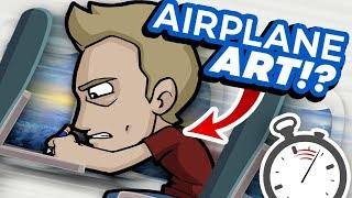 AIRPLANE ART CHALLENGE!? - No Materials, Fast Flight!