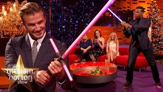 David Beckham and John Boyega Fight With Lightsabers - The Graham Norton Show