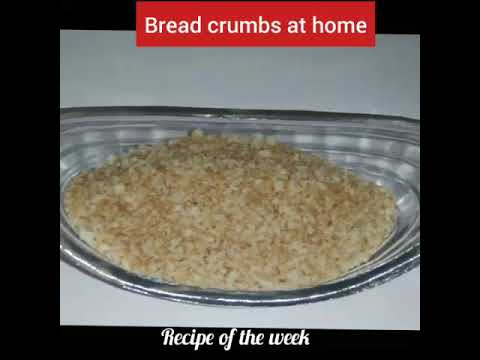 How to make bread crumbs at home without oven/ bread crumbs recipe/how make bread crumbs at home