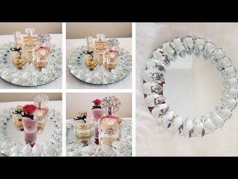 DIY | DECORATIVE BLING VANITY TRAY DECOR | HOME GOODS INSPIRED