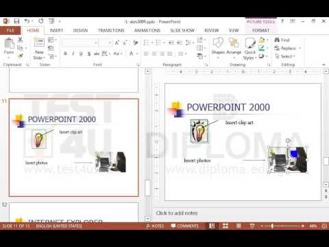 Copy the photo displayed in the POWERPOINT 2000 slide and paste it to the INTERNET EXPLORER...