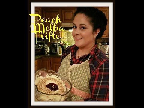 How To Peach Melba Trifle | Nadia Daydreams