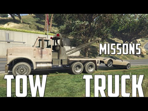 ★GTA 5 - Tonya Tow Trucks Missions [Mod Showcase]