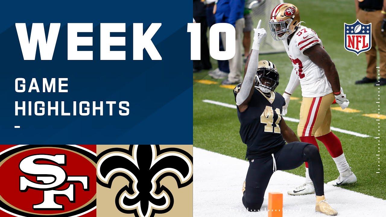 49ers vs. Saints Week 10 Highlights | NFL 2020