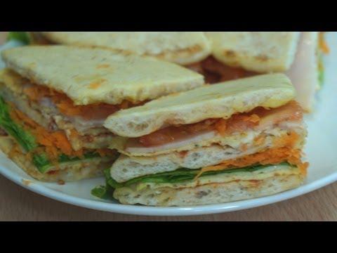 Fast Recipe - Pita Club Sandwich with Omelette