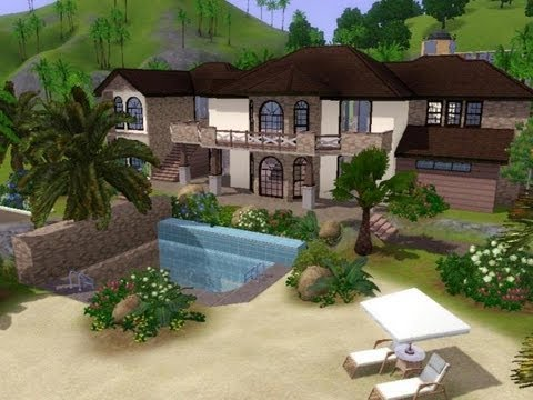 The Sims 3 - House Building - Seaside Villa