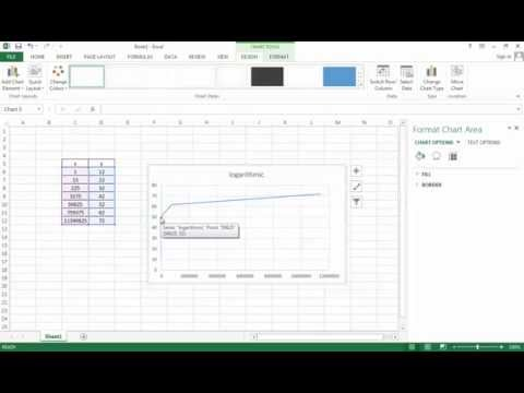 how to make a log chart in Excel
