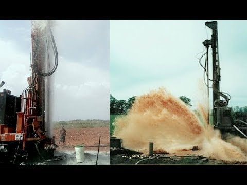 Borewell Digging   The Pressure of Underground Water during Borewell Drilling