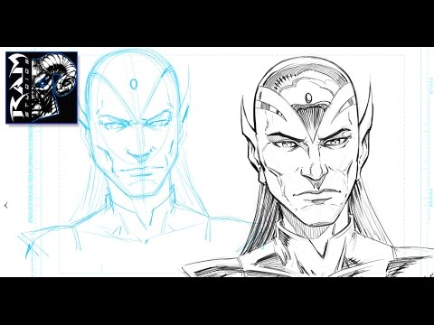 How to Sketch a Character for Comics - Drawing Process in Sketchbook Pro - Narrated