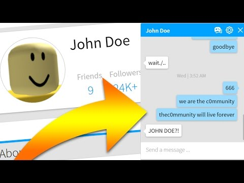 john doe is messaging me roblox playithub largest videos hub