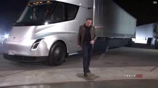 Elon knocked his head on his semi truck