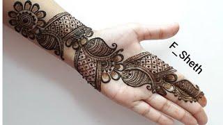 stylish mehndi designs for front hand