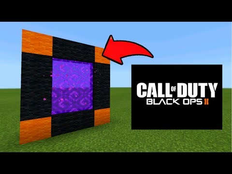 Minecraft Pe How To Make a Portal To The Call of Duty Black Ops 2 Dimension - Mcpe Portal To BO2!!!