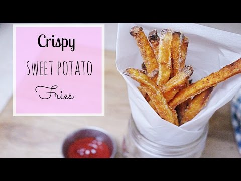Crispy Oven Baked Sweet Potato Fries // MoreSaltPlease