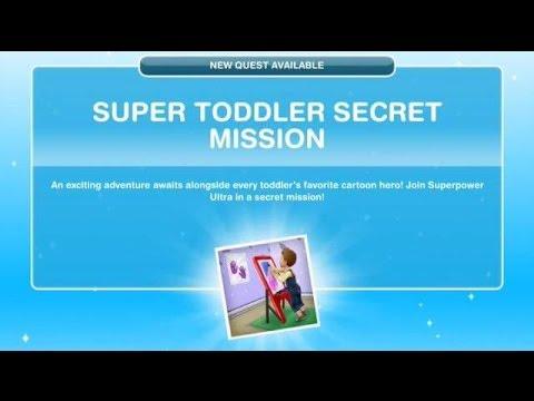 [The Sims Freeplay] - Super Toddler Secret Mission Görevi (Baby Steps -Bebek Adımları- 3.Görev)