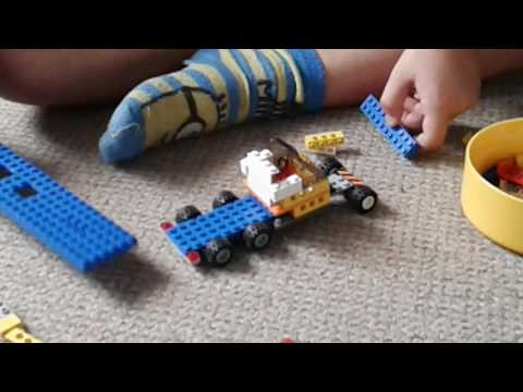 How to build a lego lorry and trailer