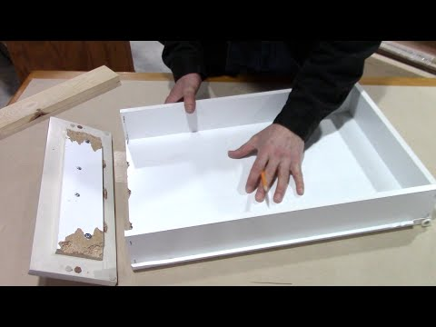How to fix a broken kitchen drawer - bathroom pull out repair