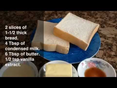 VDailyDelights: How to Make Sweet Butter Brick Toast