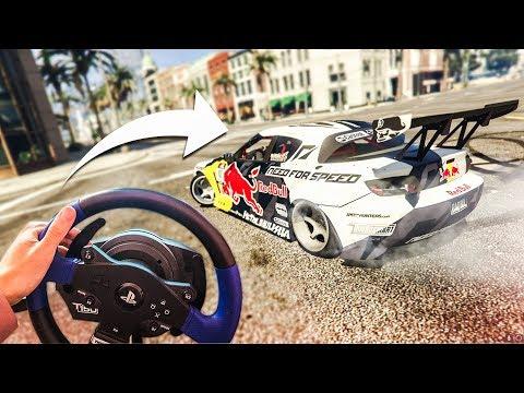 EPIC GTA 5 DRIFTING WITH A STEERING WHEEL! - (GTA 5 Drift Mod)