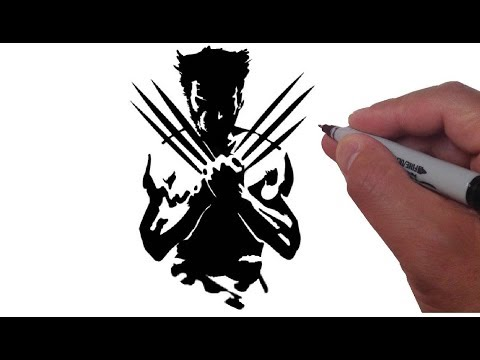 How to Draw Wolverine in Black and White