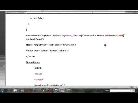 HTML FORM VALIDATION USING JAVASCRIPT   DEMO
