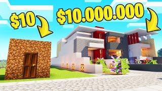 DIRT HOUSE vs. MANSION In MINECRAFT! (Build Challenge)