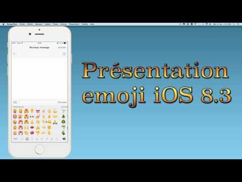 Présentation officielle des emojis sur l'iOS 8.3 depuis l'iPhone 6 Plus