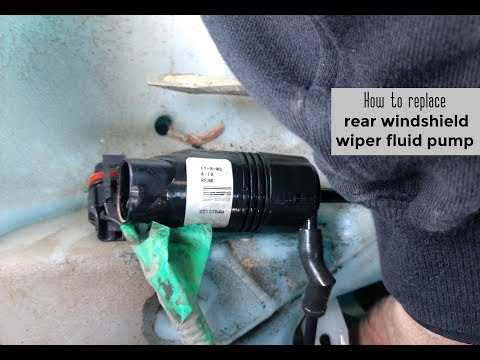 How to replace rear windshield wiper fluid pump DIY video | #diy #wiper