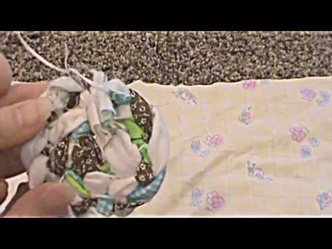How to make a small braided rug. Sewing with a Popsicle stick!