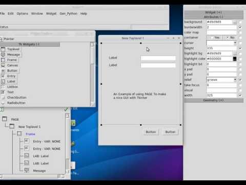 PAGE Generator Python - Tkinter GUI Builder