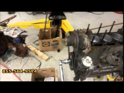 Destroyed massey ferguson z134 motor thrash