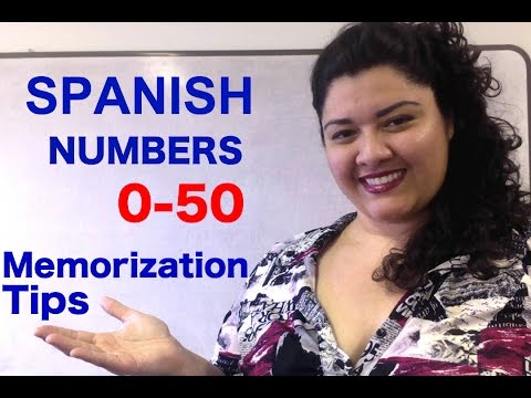 Learn Spanish numbers-Numbers 11-50  How to Count in Spanish