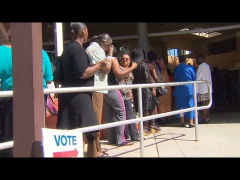 Florida early voting frenzy under way
