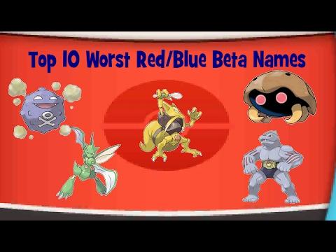 Top 10 Worst Pokemon Red/Blue Beta Names