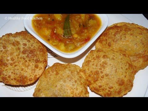Puri Recipe -Urad dal Puri Recipe - Urad dal Poori Recipe - Urad dal Kachori Recipe - Bedmi Poori