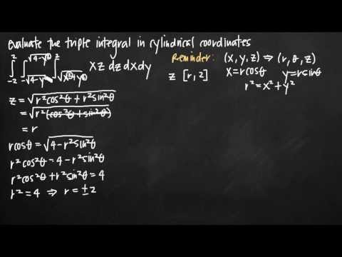 Converting triple integrals to cylindrical coordinates (KristaKingMath)